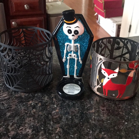 Fall & Halloween candle holders😊